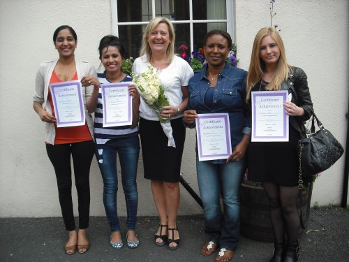 Denise Wright and some of the parents who completed a Personal Care Course in our school