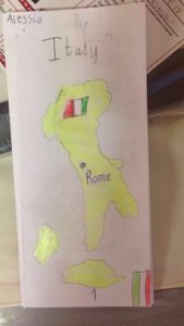 Italy looks like a boot on the map! It has two surrounding Islands