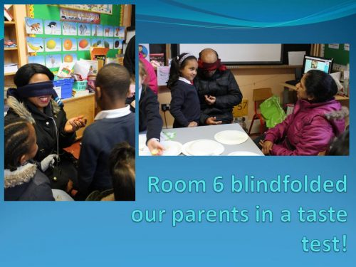 Room 6 blindfolded our parents in a taste 8 A