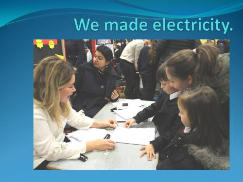 We made electricity 3 A