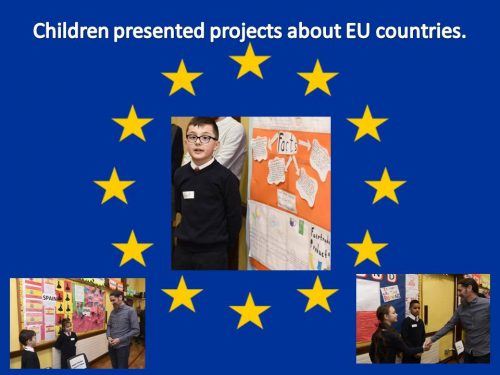 Children presented projects about EU countries a