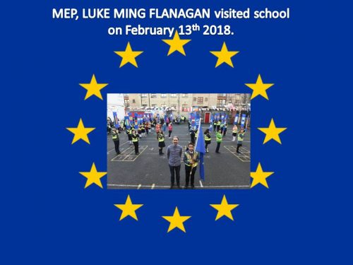 MEP, LUKE MING FLANAGAN visited school a