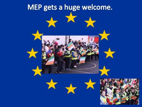 MEP gets a huge welcome a